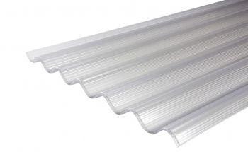 Lichtdoorlatende polycarbonaat golfplaat 3-wandig - 1.250 t/m 3.050 mm - helder