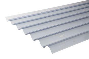 Lichtdoorlatende golfplaat PVC helder