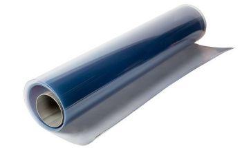 PVC - vlak op rol - glashelder - 30.000 x 1.250 x 1,2 mm