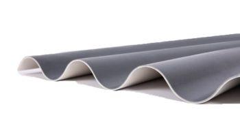 Ritini kunststof golfplaat antraciet; 3.100 t/m 5.600 mm
