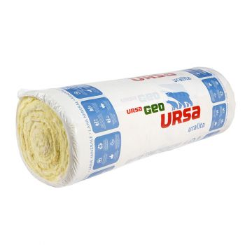 Ursa glaswol rol Hometec 40; 150mm; 18 rol/pall